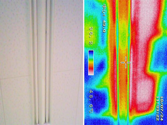 屋根から天井への熱の侵入