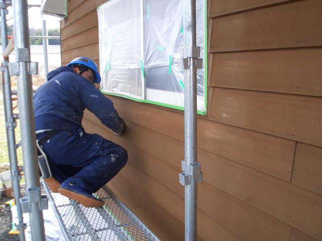 板壁の塗り替え