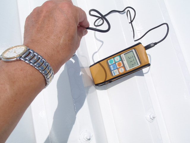 遮熱塗装後の温度計測