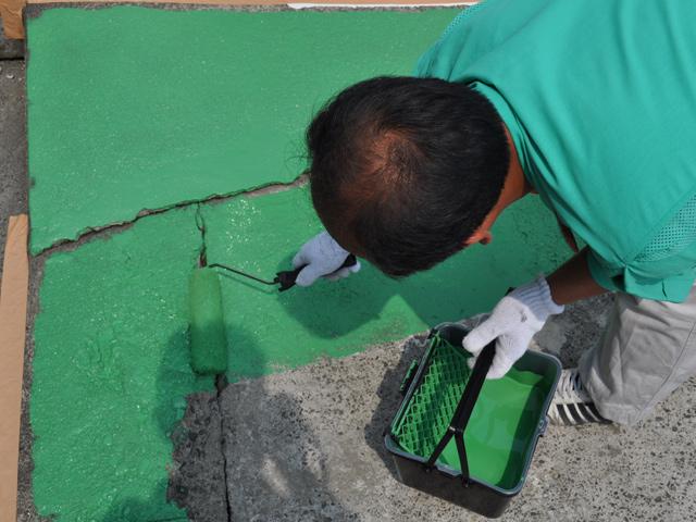 駐車場の塗装 技術指導