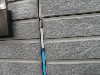 サイディング壁のジョイント コーキング