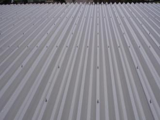 金属屋根 遮熱塗装完成
