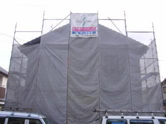 住宅塗り替え工事中