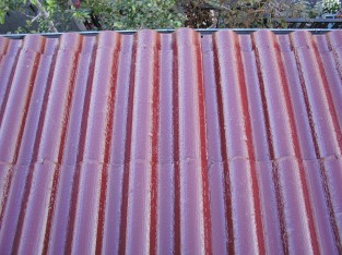 屋根の遮熱塗装1