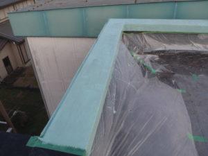 防水材塗り完了