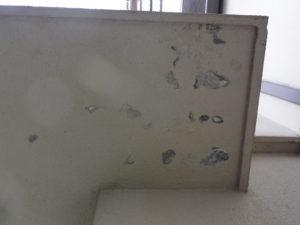 劣化していた旧塗膜の除去後