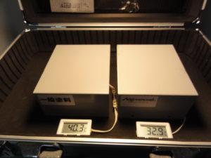 一般塗料とアドグリーンコートの比較(室内温度)