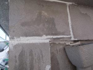 外壁ひび割れ補修後