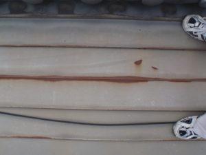 鉄板錆び及び塗料の経年劣化