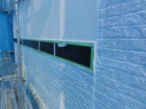 養生・外壁下塗り完了①