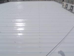 金属屋根用シリコン塗料2回目