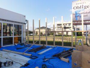 大工工事① 柱、梁等設置