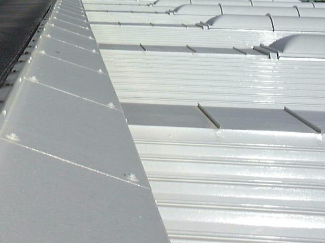 屋根に遮熱塗料塗り